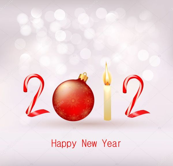 Happy new year 2012 New year design template Vector illustration . 1024 x 988.Funny Wishes For New Years
