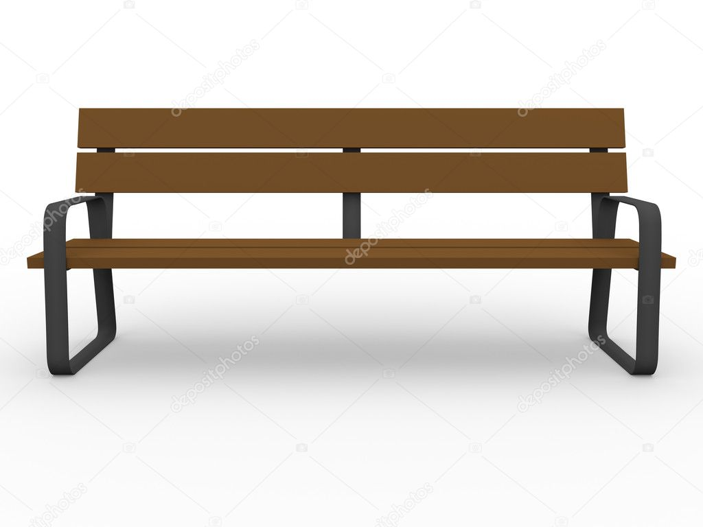 Wooden Park Benches Front Front View Of A Bench Stock Photo Alfonsodetomas 7490621