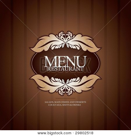 Restaurant menu design, with seamless background Poster ID29802518