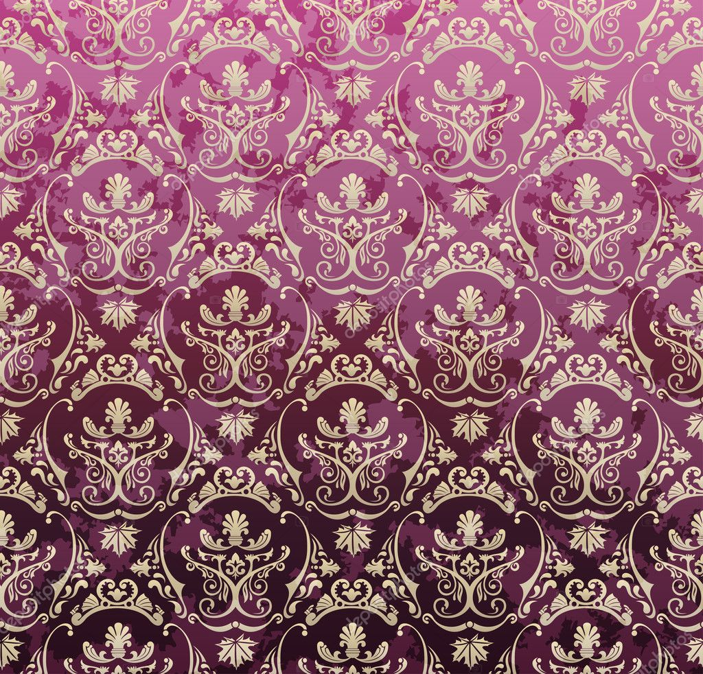 Barok Behang Wit Seamless Background Violet Royal Set Retro Style Wallpaper