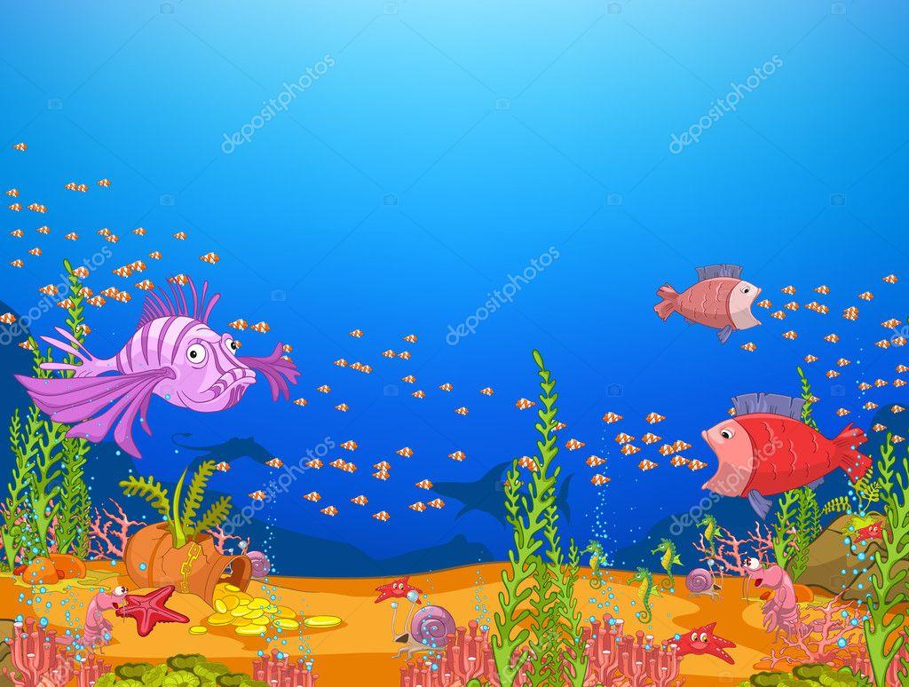 Fish 3d Live Wallpaper Download Ocean Underwater World Stock Vector 169 Rastudio 8932019