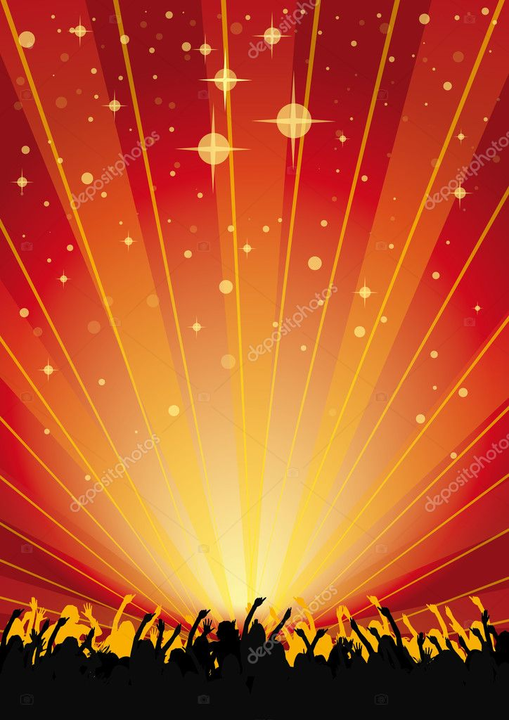 party background for flyers xv-gimnazija