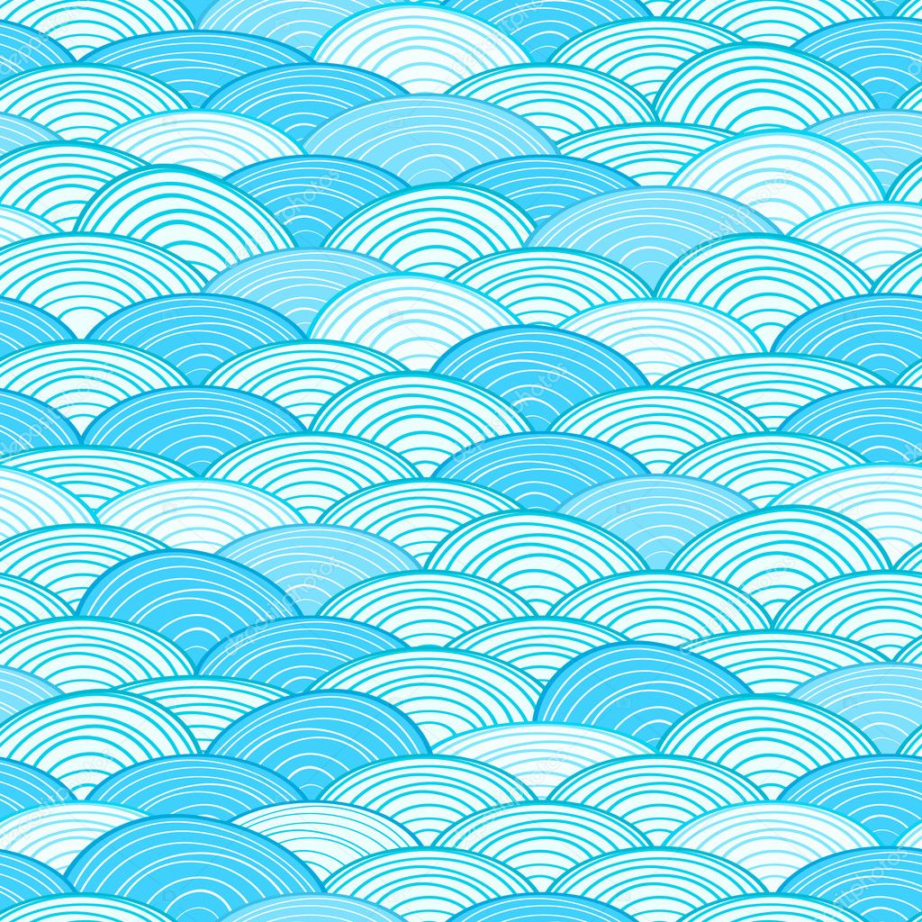 Wave Piscina Seamless Water Wave Pattern Stock Vector Nikifiva
