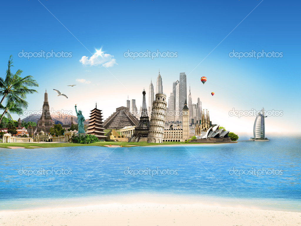 Travel Agency Wallpaper Hd Tourism Travel All Around The World Stock Photo