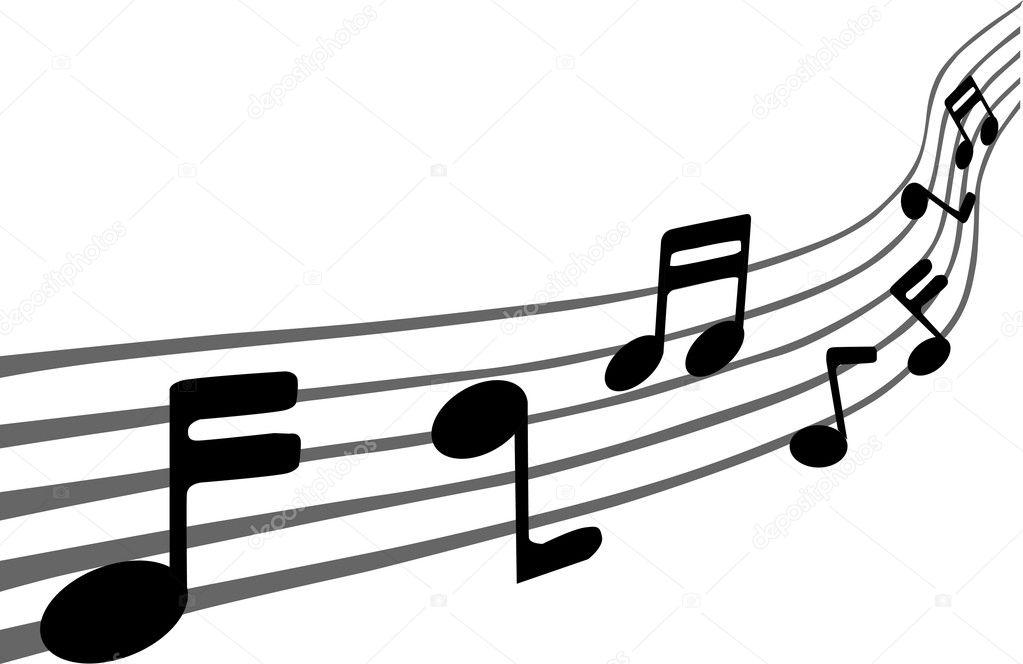 Music notes on staves \u2014 Stock Vector © leonardo255 #10411264