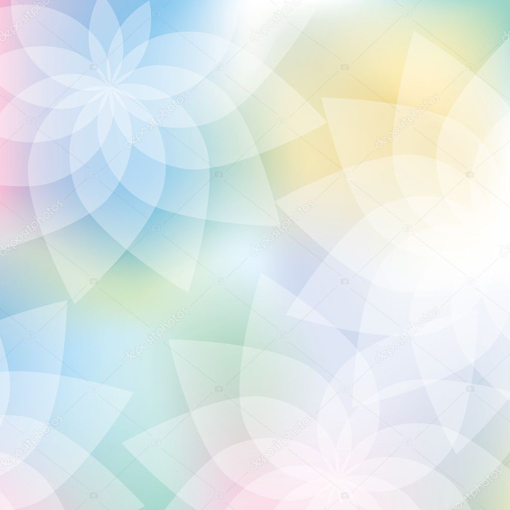 3d Rose Live Wallpaper Free Download Floral Background In Pastel Colors Stock Vector