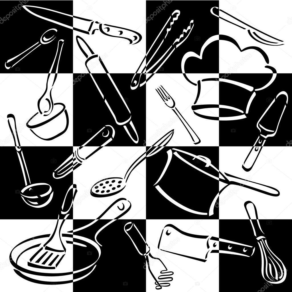 Kitchen tools drawing - Kitchen Tools Drawing 23