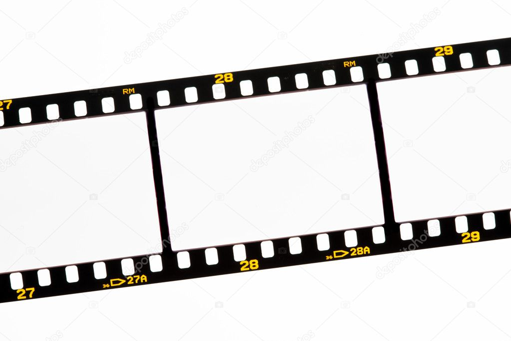 Slide film strips with empty frames \u2014 Stock Photo © ginasanders #8316096
