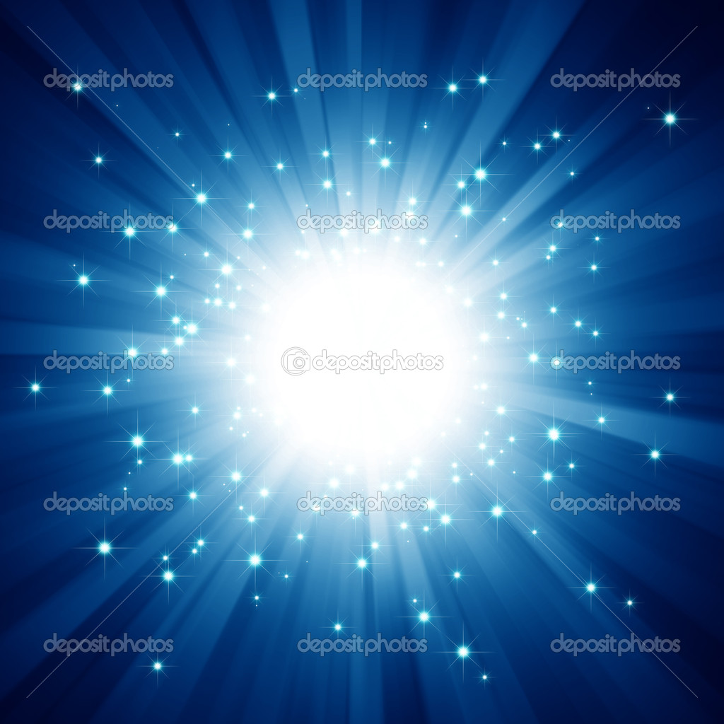 Snow Falling Gif Wallpaper Abstract Sparkling Star Blue Burst Background Stock