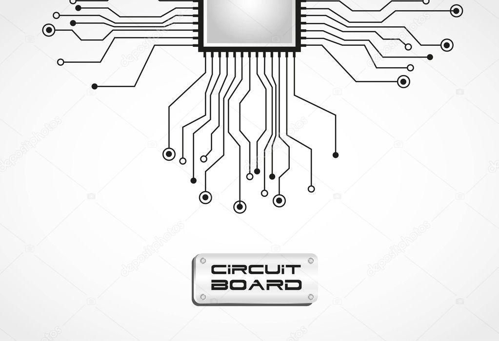 circuit board cpu vector illustration