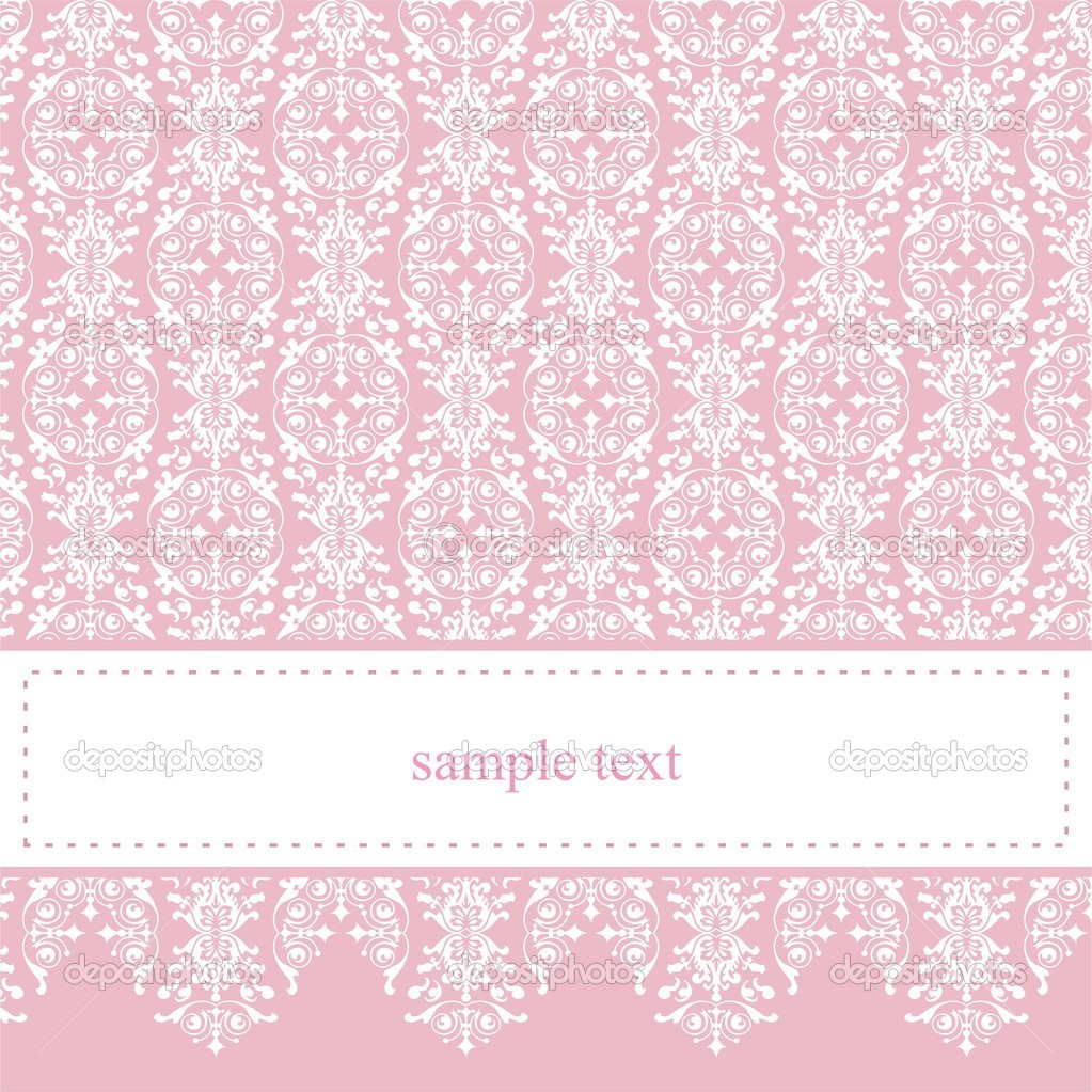 Baby Girl Wallpaper Borders Pink And Purple Sweet Elegant Baby Pink Lace Vector Card Or Invitation