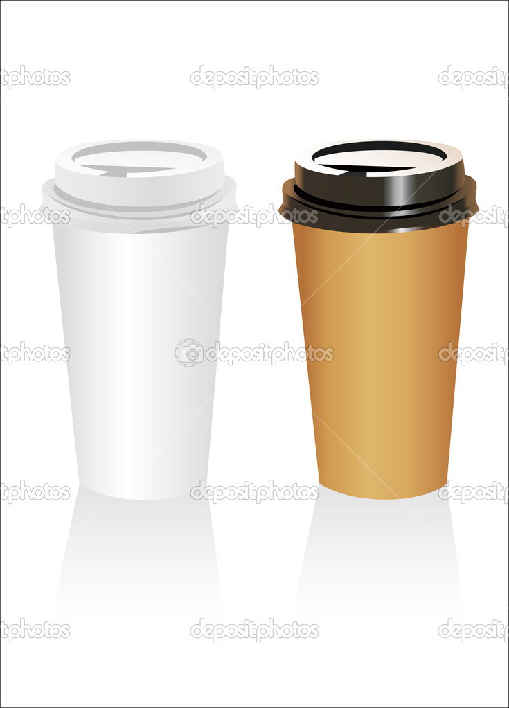 Plastic coffee cup templates over white background \u2014 Stock Vector