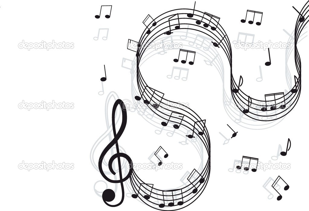 Music Treble clef and notes for your design \u2014 Stock Vector © hi6un