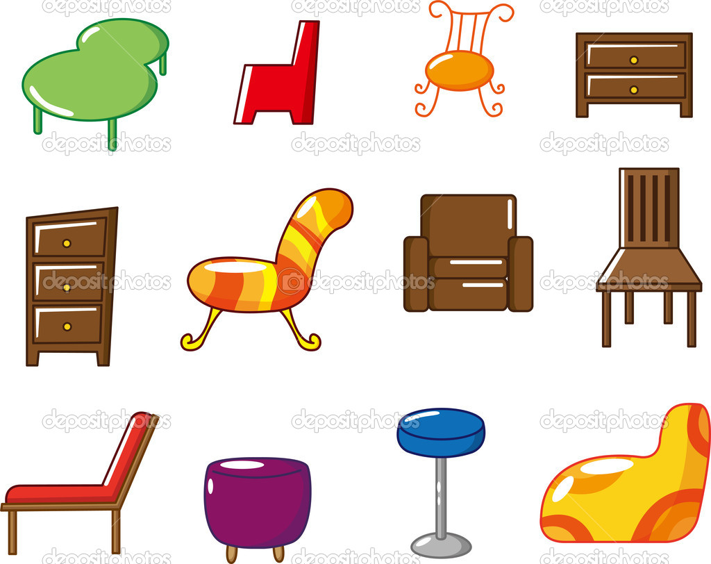 Doppelbett Clipart Cartoon Möbel Symbol Stockvektor Mocoo2003 8094149