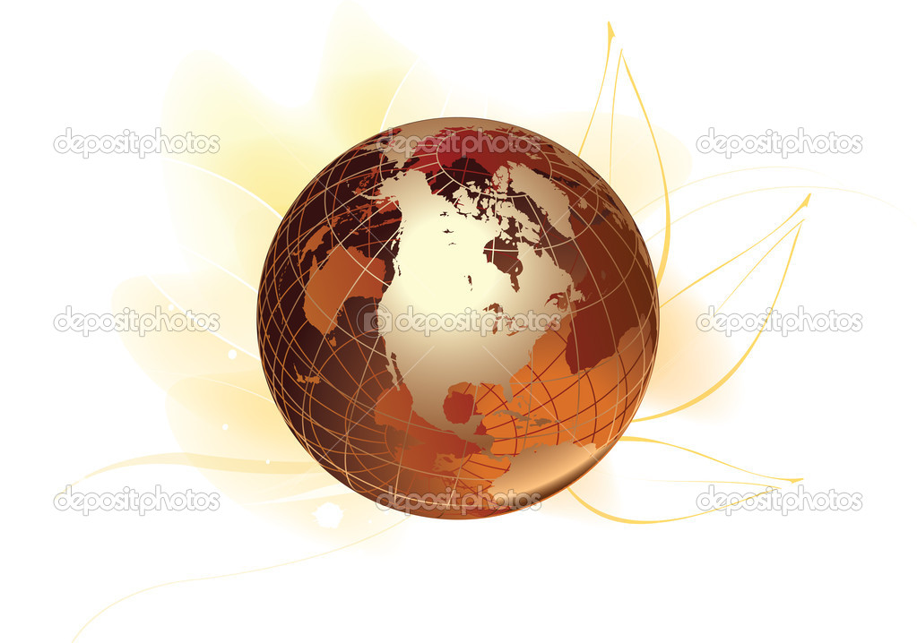 Globe logo \u2014 Stock Photo © magagraphics #10108507