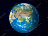 Earth Model From Space Asia Stock SonSam