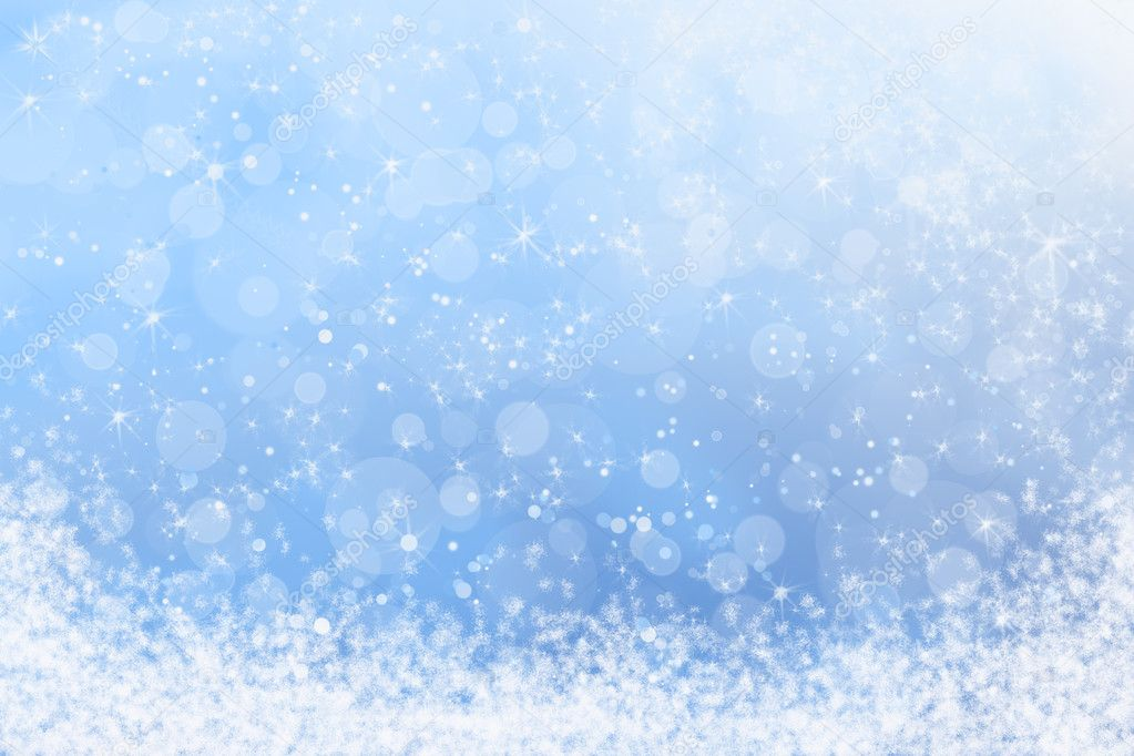 Falling Snow Live Wallpaper For Pc Pretty Winter Blue Sparkly Sky And Snow Background Stock