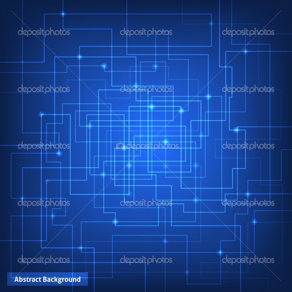 Tech 3d Free Live Wallpaper Virtual Circuit Technology Background Stock Vector