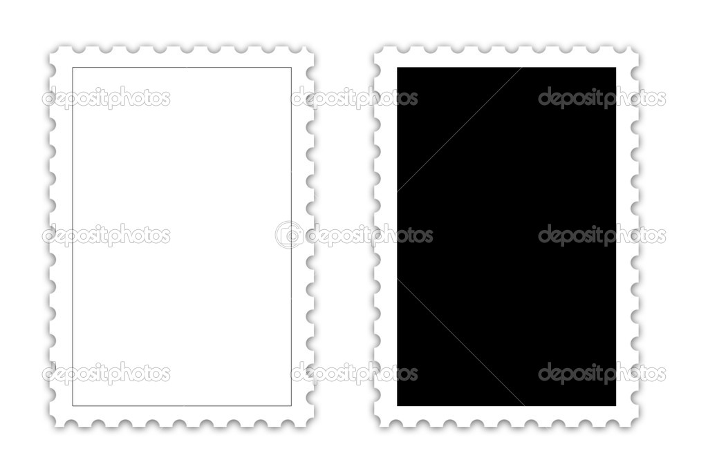 POSTAGE STAMP template \u2014 Stock Photo © difughtt #10256634 - stamp template