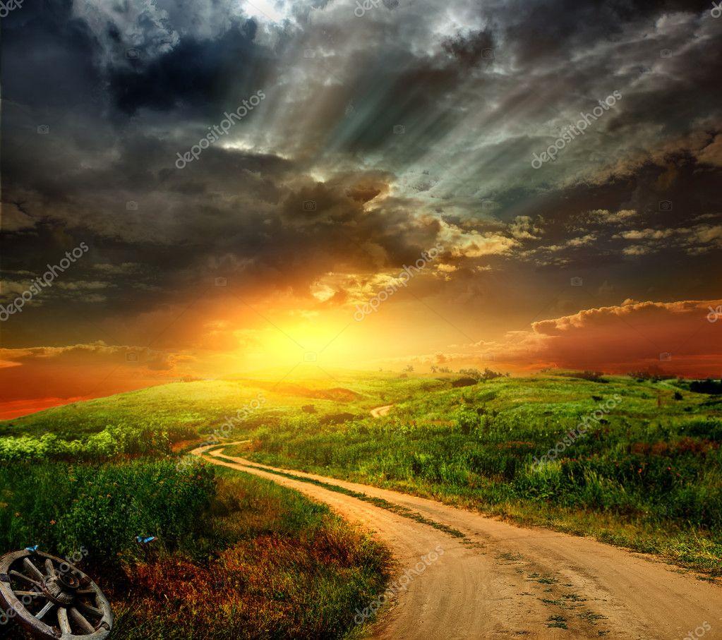Sunrise 3d Wallpaper Beautiful Nature Landscape Stock Photo 169 Krivosheevv