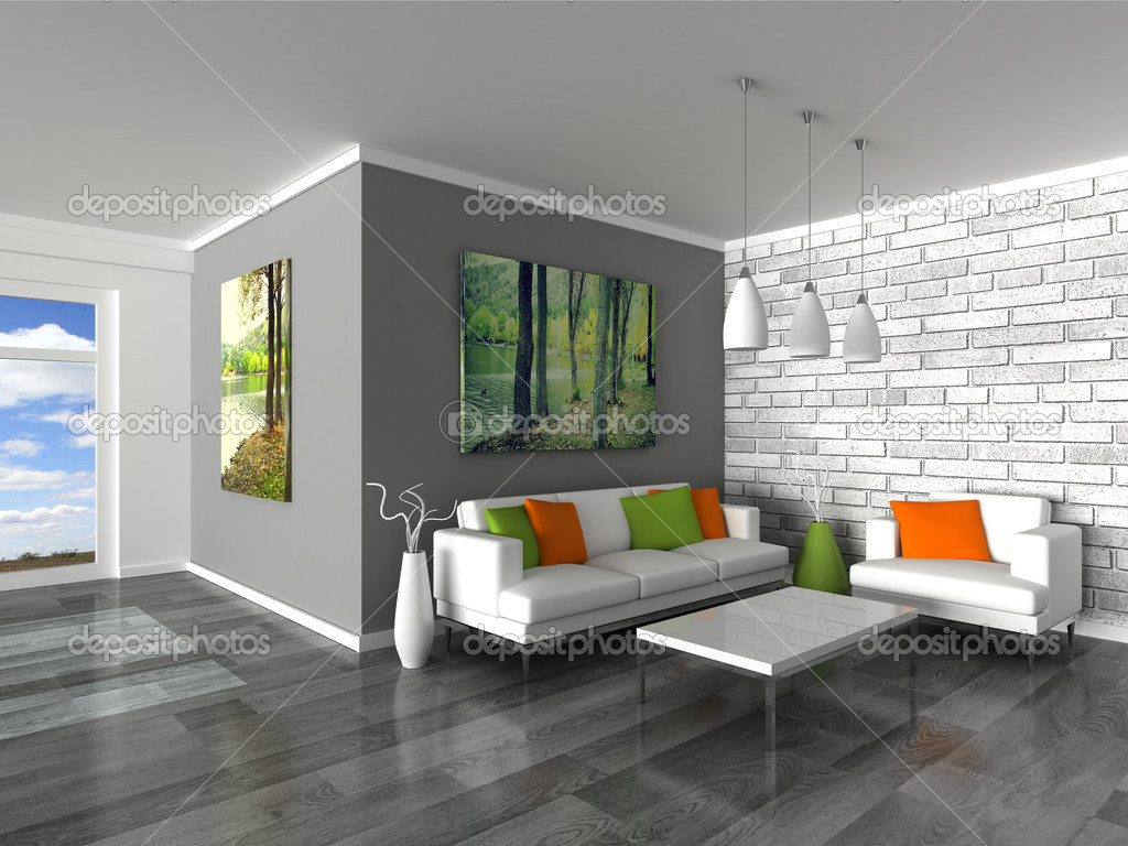 Graue Wand Im Schlafzimmer Parede Cinza Sala Great Foto Reproduo