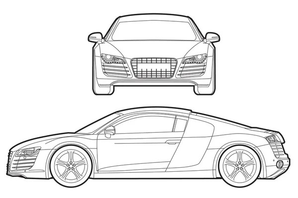 Audi Stock Vectors, Royalty Free Audi Illustrations Depositphotos® - best of blueprint drawings of audi r8