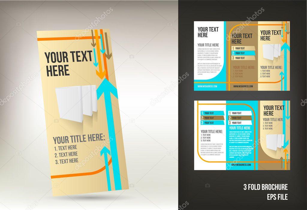 Retro tri fold brochure template \u2014 Stock Vector © natashica #10727684 - retro brochure template