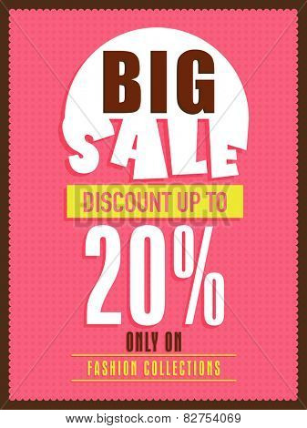 Big sale flyer, banner or poster design with discount offer only on