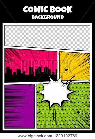 Blank Humor Graphic Pop Art Comics Book Magazine Cover Template