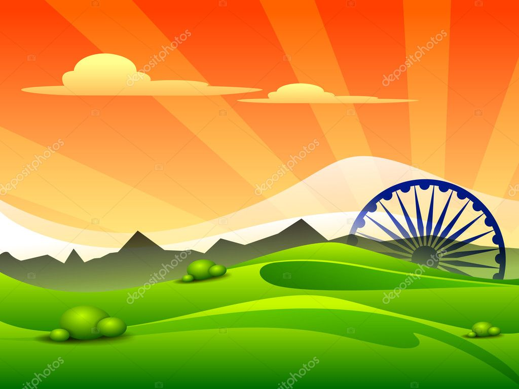 India Flag 3d Live Wallpaper Indian Tricolor Flag Asoka Wheel For Republic Day And