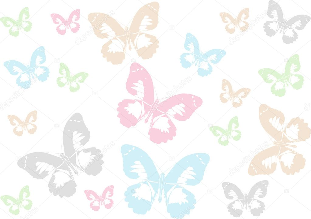 Baby Girl Wallpaper Borders Pink And Purple Light Color Butterfly Background Stock Vector 169 Dr Pas