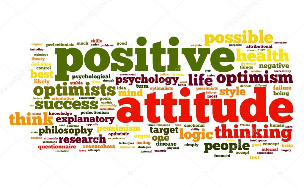 Encouraging Quotes Wallpaper Free Download Positive Einstellung Konzept In Der Tag Cloud Stockfoto
