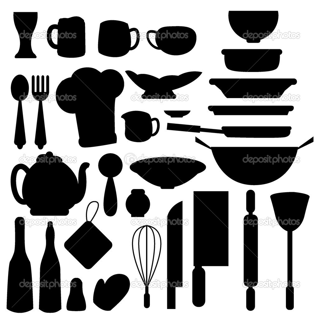 Cliparts Küche Gratis Kitchen Stuff Icons Stock Vector Glossygirl21 11102454
