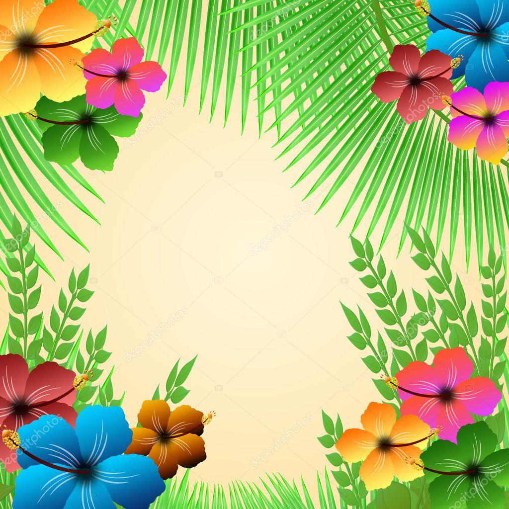 Animal Print Desktop Wallpaper Tropical Frame Stock Vector 169 Roxanabalint 11525782