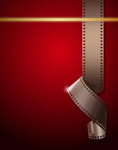 Camera film roll on wallpaper red background — Stock Illustration #11754977