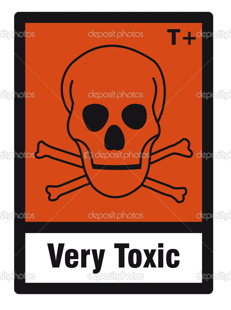 Safety sign danger sign hazardous chemical chemistry very toxic - chemistry safety