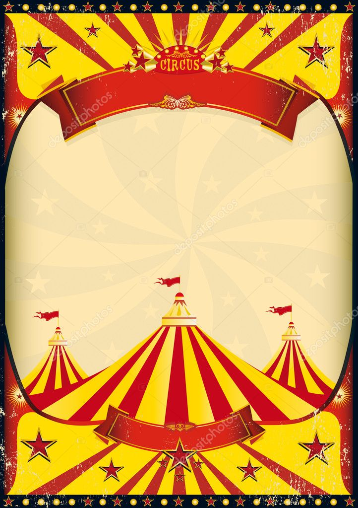 Vintage Carnival Circus Poster Template Vector - dinosauriensinfo