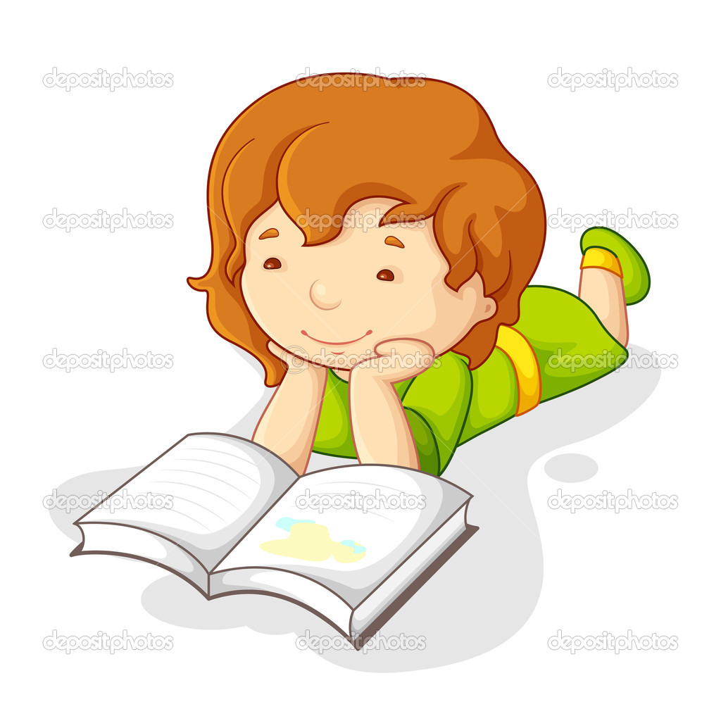 Girl Studying Wallpaper Libro De Lectura De Beb 233 Ni 241 A Vector De Stock 11506570