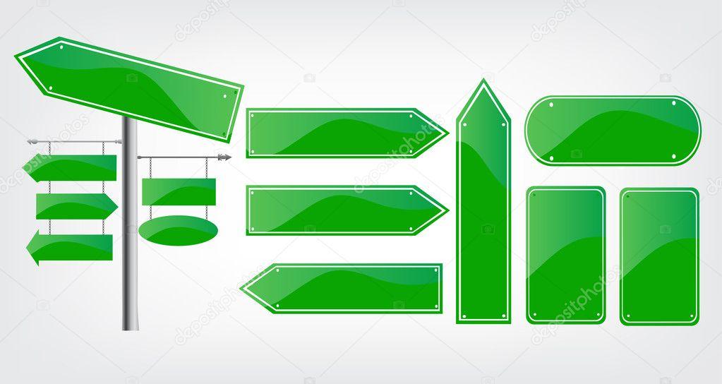 Editable street signs \u2014 Stock Vector © Robin2b #11592523 - editable signs