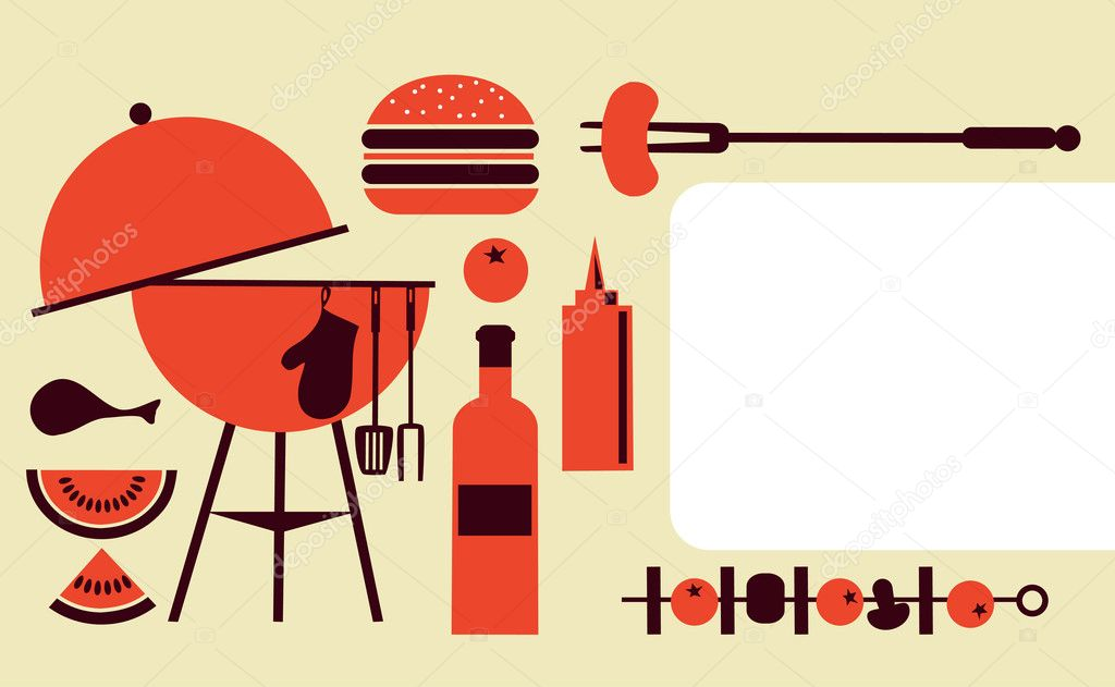 Bbq party invitation template \u2014 Stock Vector © zoya_lipets #11220106