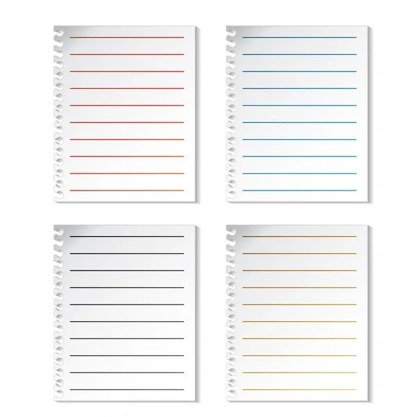 Set of open realistic notebooks with pages diary office sheet - diary paper template