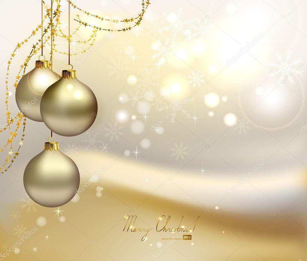 New Years Eve Wallpaper Iphone 6 Fundo De Natal Elegante Com Tr 234 S Bolas De Noite E