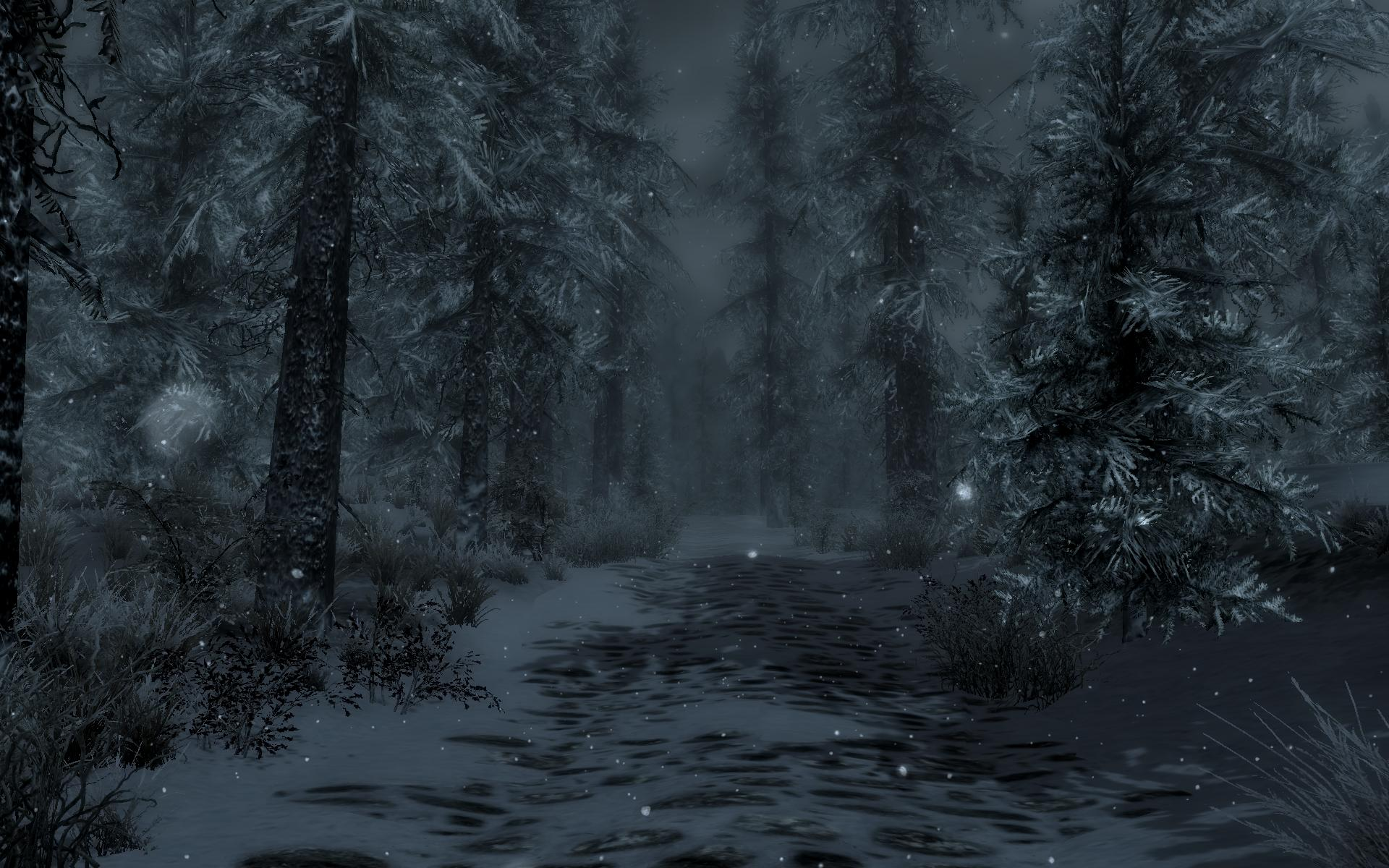 Skyrim Fall Wallpaper Hd A Nice Snowy Forest At Skyrim Nexus Mods And Community