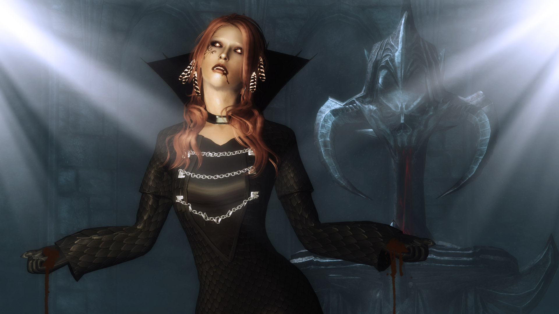 3d Virus Wallpaper Queen Of The Damned Akasha Dress At Skyrim Nexus Mods