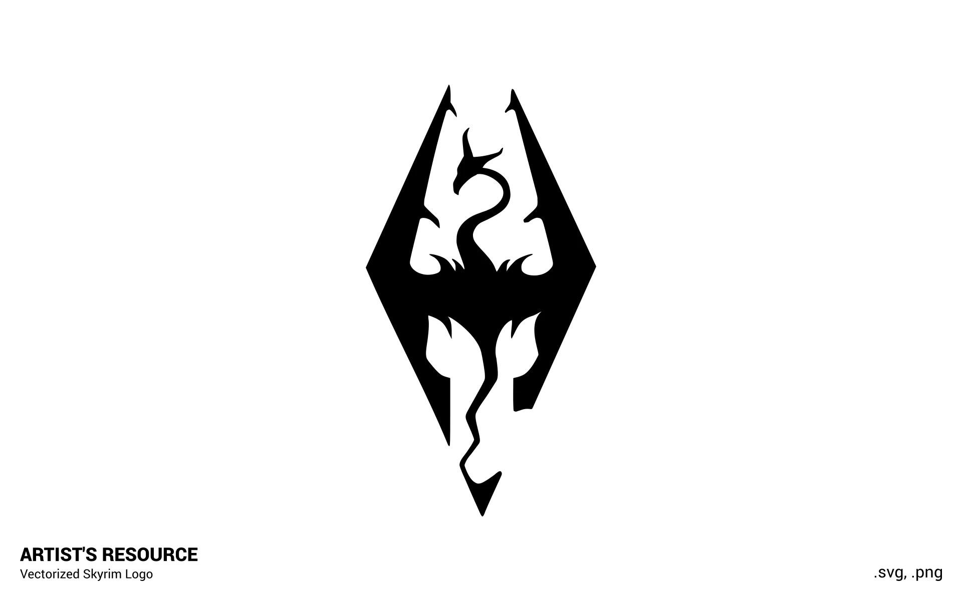 Black Ops Wallpaper Hd Skyrim Logo Vector Svg And High Res Png At Skyrim Nexus