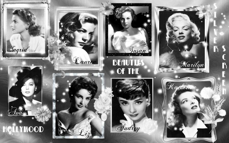 Marilyn Monroe Quotes Iphone Wallpaper Beauties Of Hollywood Vintage Photo Collage Popopics Com
