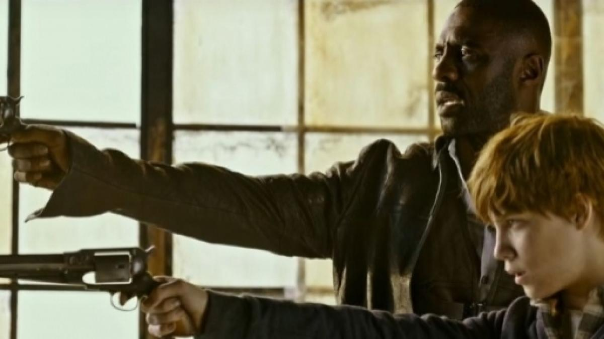 Idris Elba Films Dark Tower Scenes With Tom Taylor As Jake Dark Tower Film Adaptation Shows First Trailer