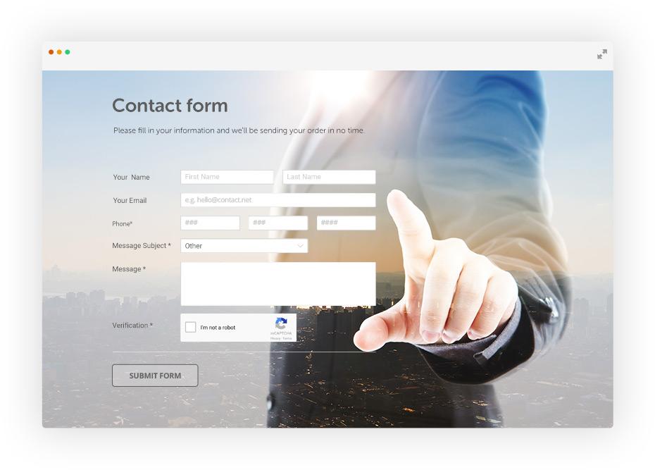 Contact Form Generator Free  Responsive 123FormBuilder