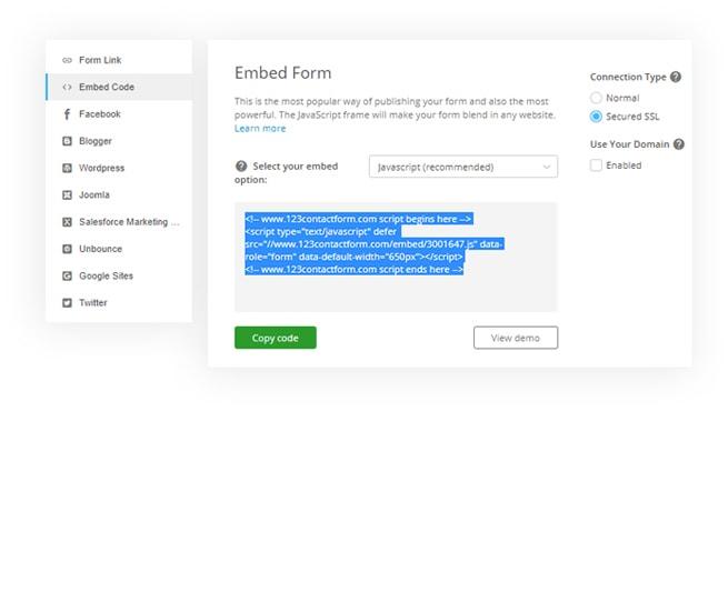 Facile à utiliser bon de commande en ligne 123FormBuilder