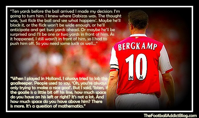 Swimming Wallpaper Quotes Top 10 Quotes By Arsenal Legend Dennis Bergkamp